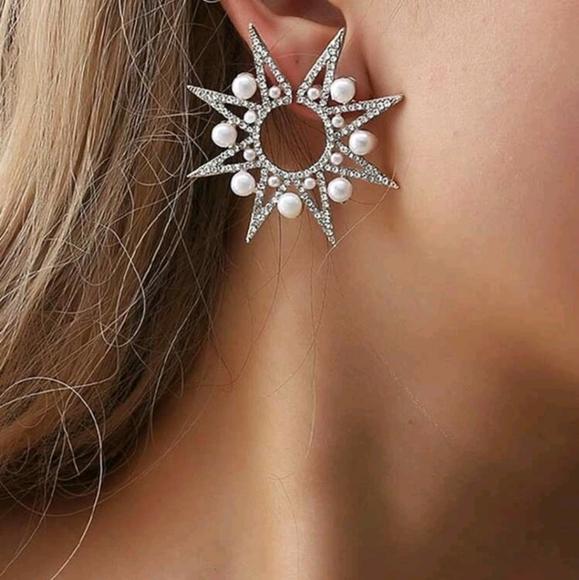 1 pc star earrings